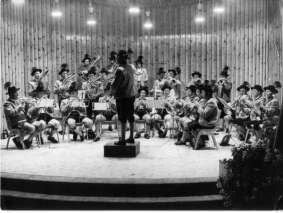 Standkonzert in Oberaudorf 1974 (Dirigent Prof. Rudolph Schmidt)