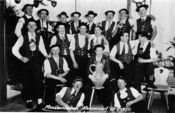 Musikantenball Niederaudorf 29.Jan 1950