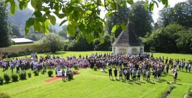 Festgottesdienst im Klostergarten zum 80 jährigen Gründungsfest