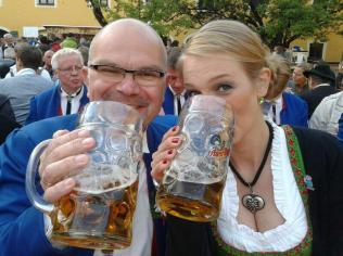 Auch unseren Gästen aus Fischenich schmeckte das bayerischer Bier