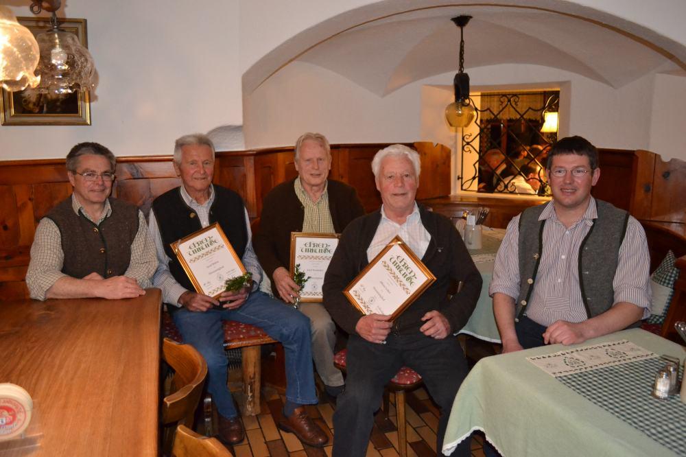 Ehrenmitglieder Musikkapelle Niederaudorf